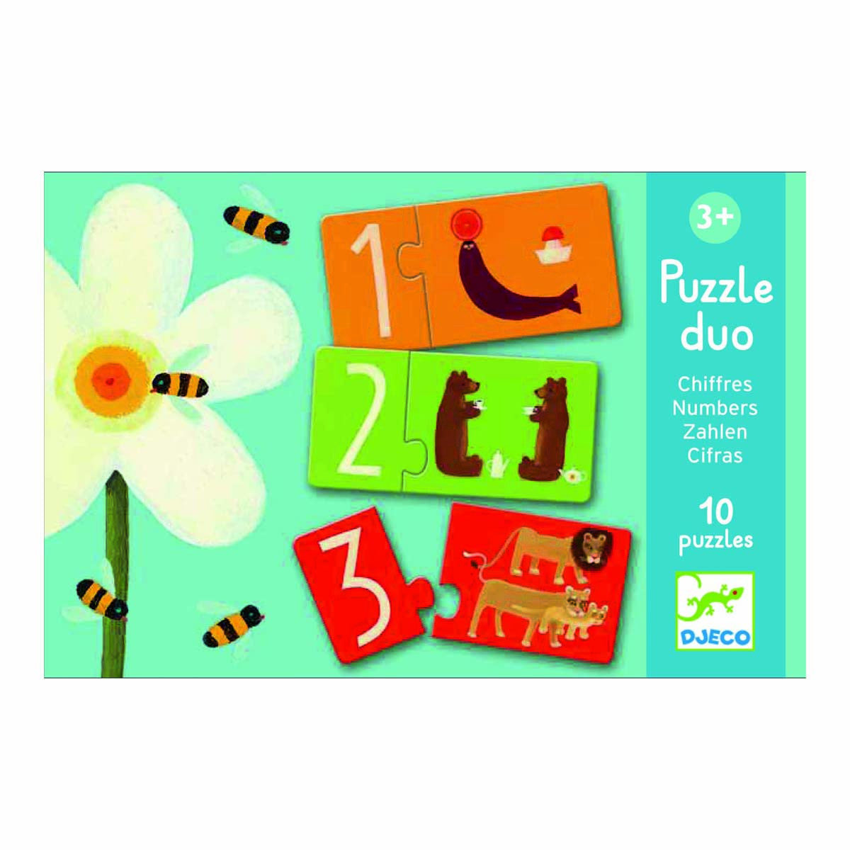 Puzzle Duo - Numbers by Djeco - Little Citizens Boutique  - 1