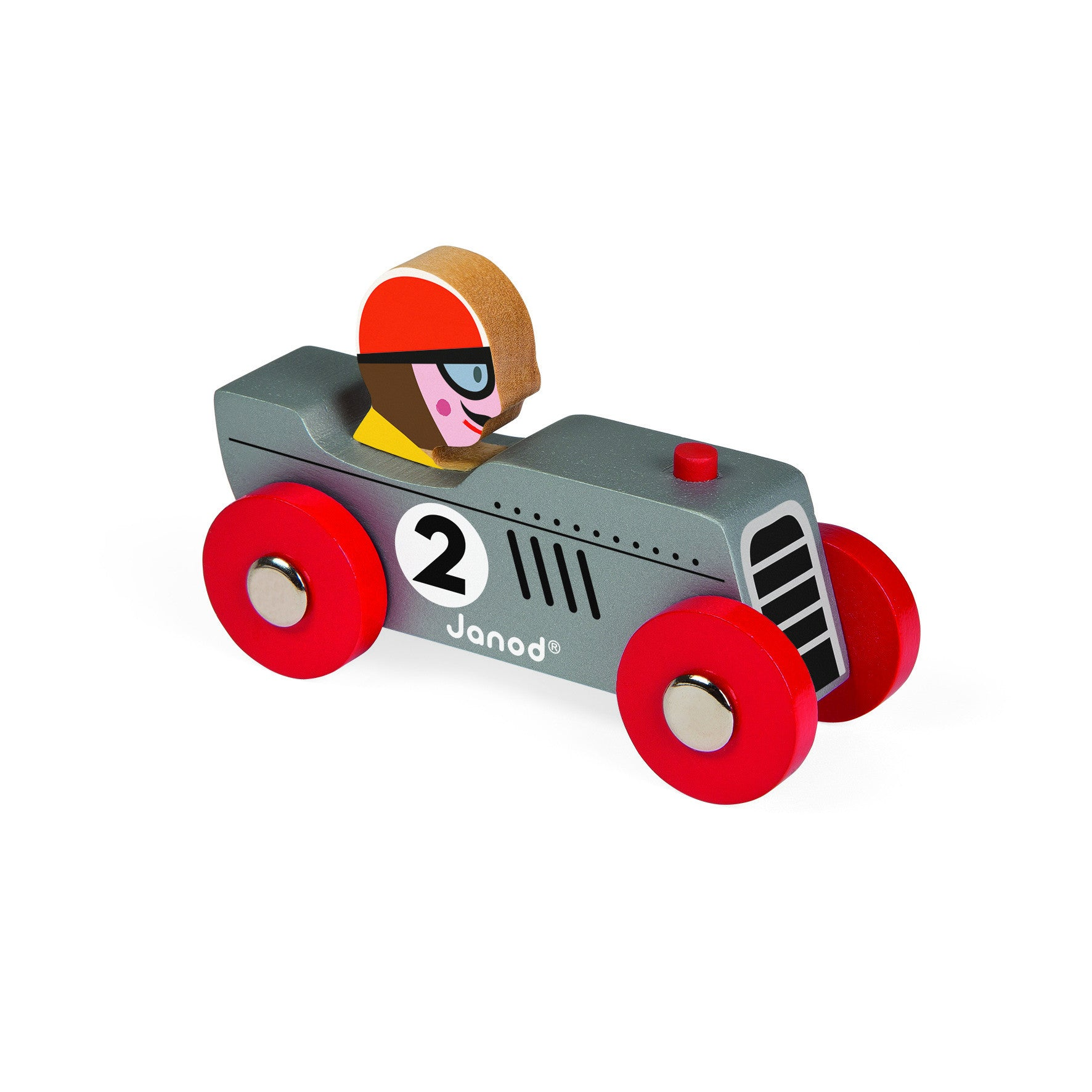 Janod racing Retromotor Silver/Grey - Little Citizens Boutique