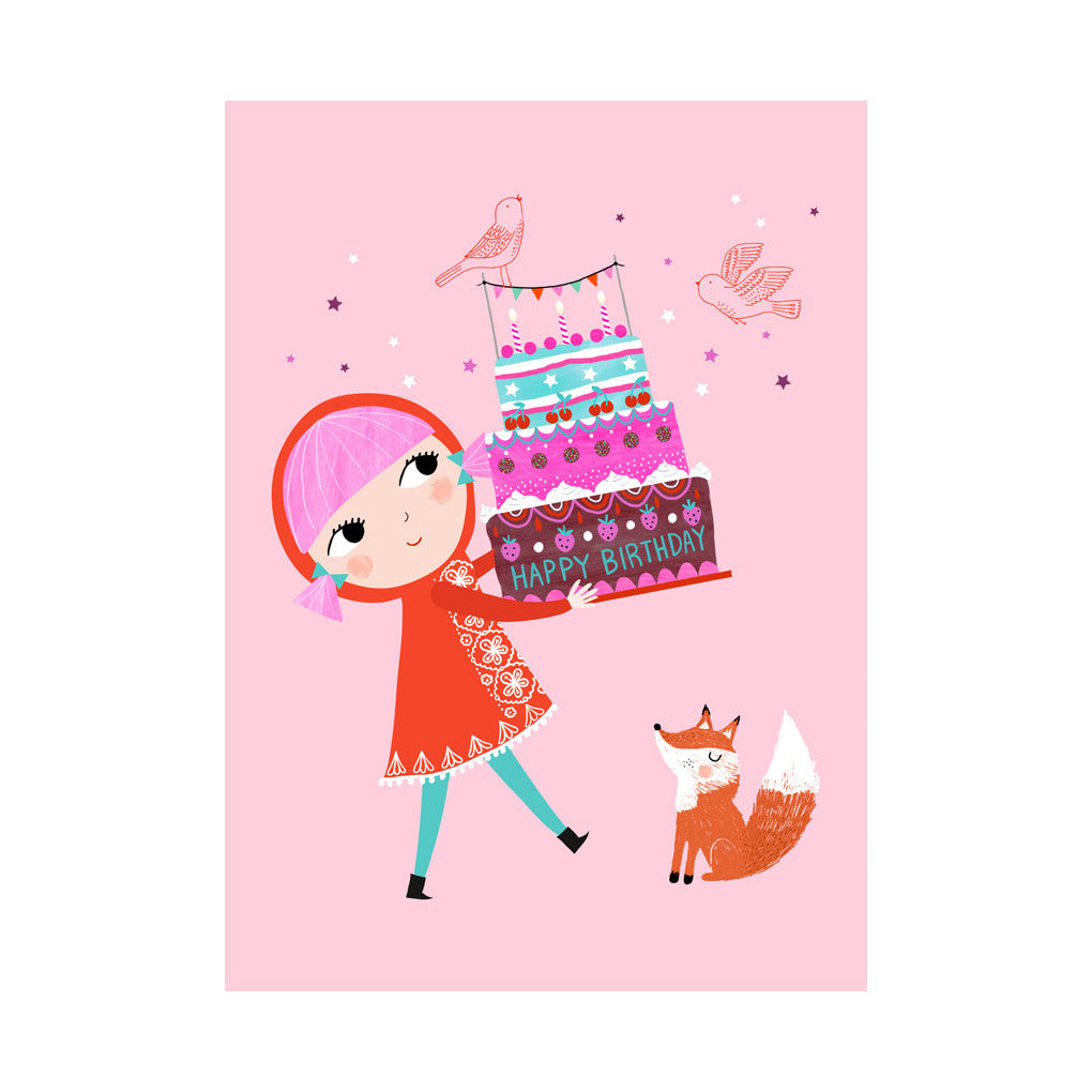 Happy Birthday Postcard by Rebecca Jones - Little Citizens Boutique