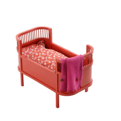 Red Flower & Dots Duvet and Pillow Danish Baby Doll Cot - Smallstuff - Little Citizens Boutique  - 2