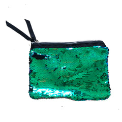 Green Mermaid Colours Sequin Purse Pouch