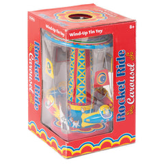 Rocket Ride Carousel Tin Toy by Tobar - Little Citizens Boutique  - 2