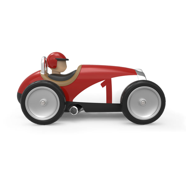 Racing Car Red and White by Baghera