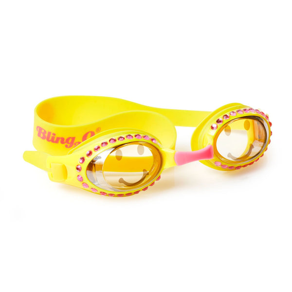 Smiley Rhinestone Kid's Swimming Goggles by Bling2o