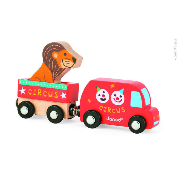 Circus Van, Trailer and Lion by Janod