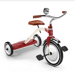 Vintage Metal Red & White Tricycle by Baghera