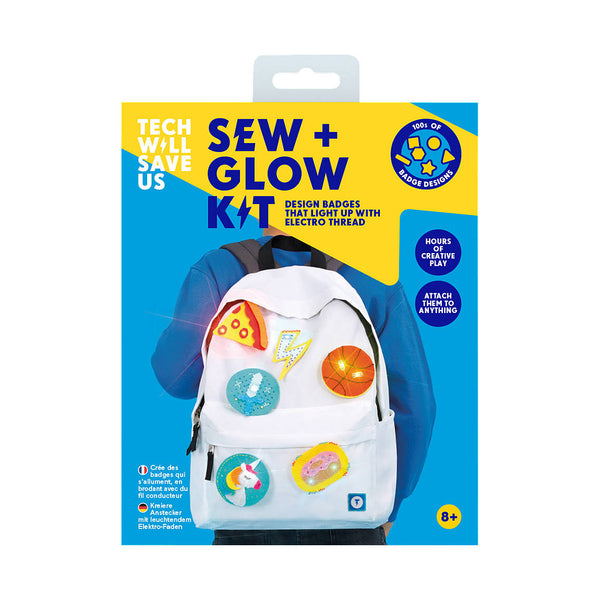 Make you own Emoji Badges with Sew and Glow Kit by Tech Will Save Us