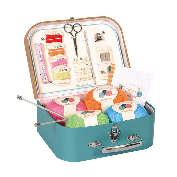 Sewing Kit Suitcase by Moulin Roty
