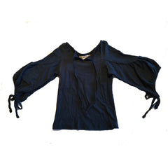 Navy Long Sleeve Gypsy Top by Peas and Queues