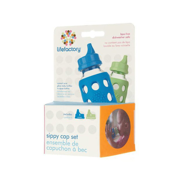 Sippy Lids Ocean & Spring Green Pack - lifefactory