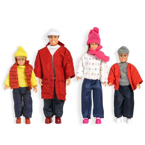 Family Dollhouse Figures - Winter Set by Lundby