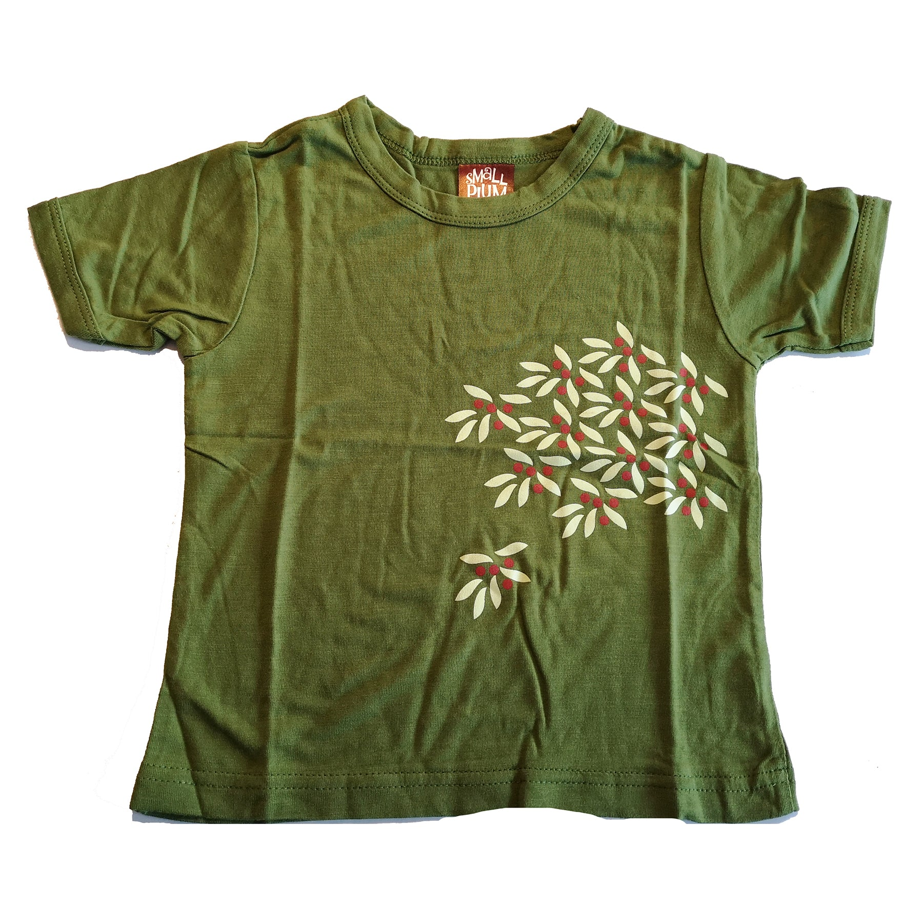 Green Plant Print Tee by Small Plum