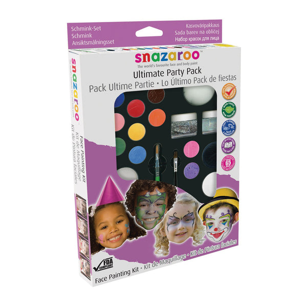 Snazaroo Face and Body Paint & Glitter Party Pack