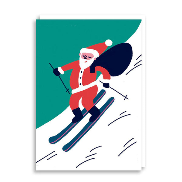 Snow Santa Card from Cachetejack