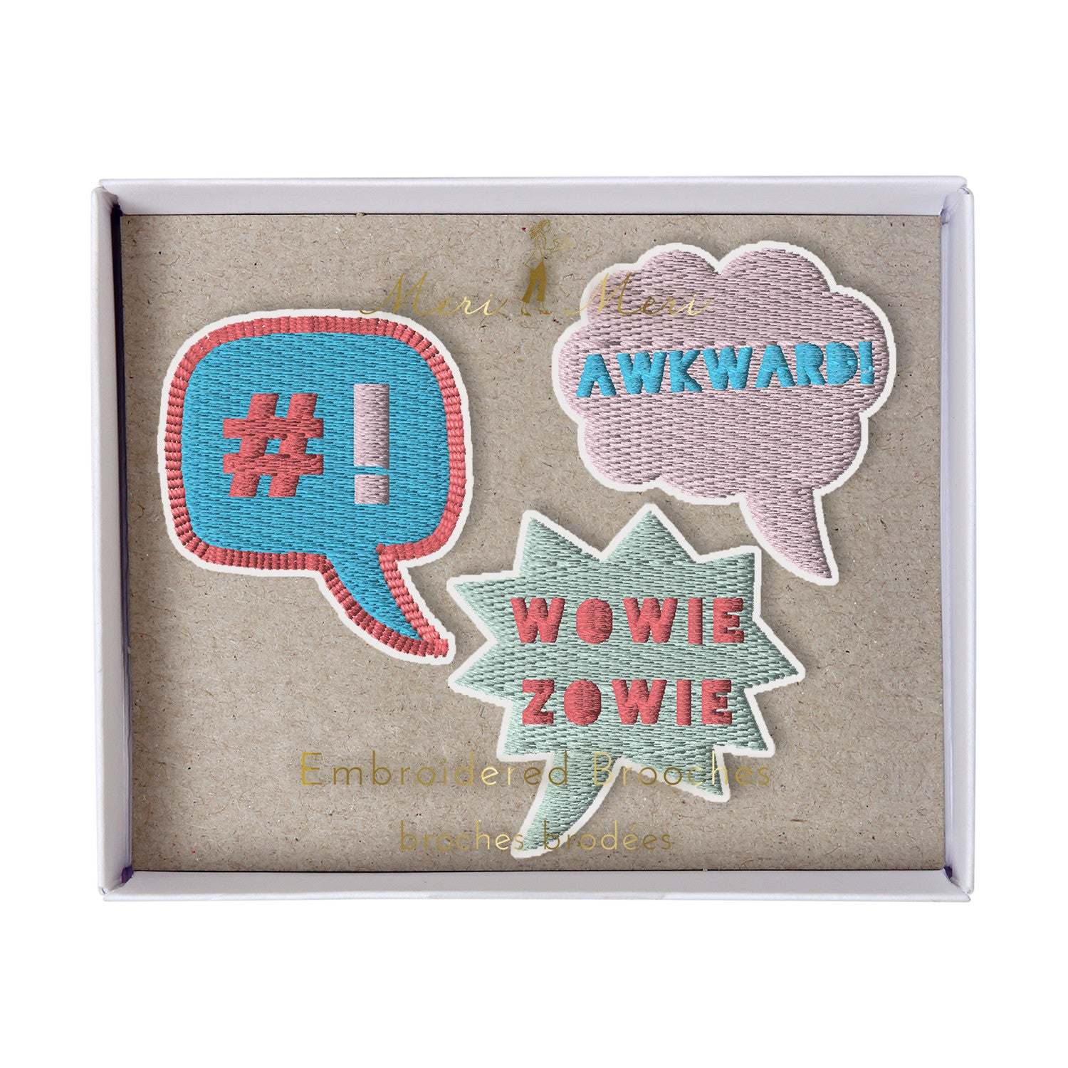 Speech-Bubble Brooches - Meri Meri - Little Citizens Boutique