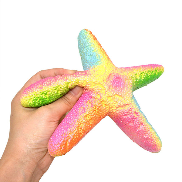 Giant Neon Starfish Scented Squishy