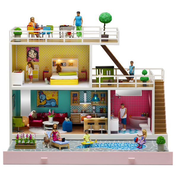 Stockholm Dollhouse with Furniture Included