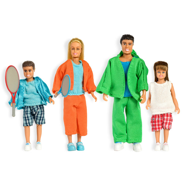 Stockholm Summer Dollhouse Family of Four Figures Set by Lundby