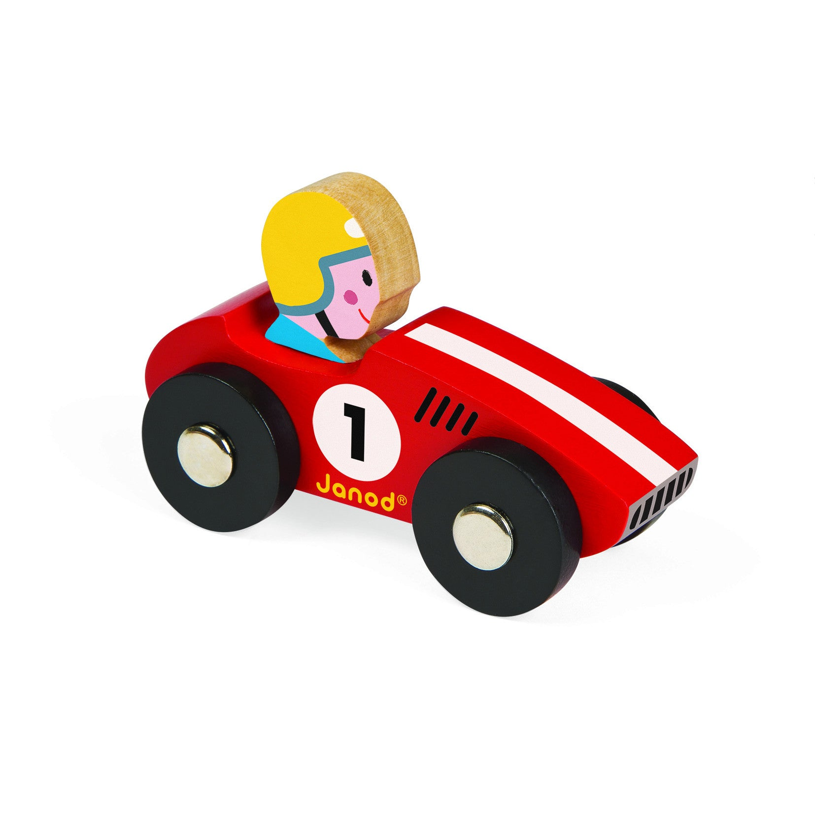 Janod Story Racing Retro Car - Red