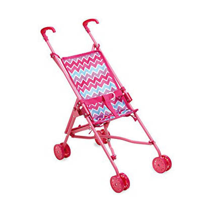 Pink Zig Zag Stroller or Poussette for Petitcollin