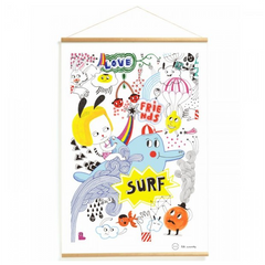 Djeco Kakemono Poster Surf's Party