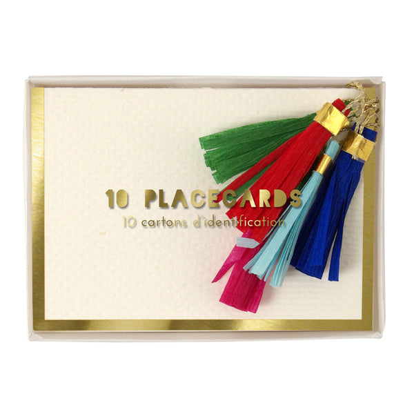 Tassle Placecards by Meri Meri