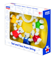 Ted and Tess Pram or Stroller String by Ambi - Little Citizens Boutique  - 3