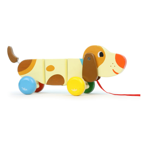 Basile the Dog Pull Along Toy by Vilac
