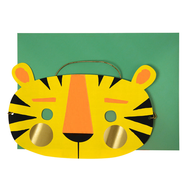 Tiger Mask Birthday Greeting Card by Meri Meri