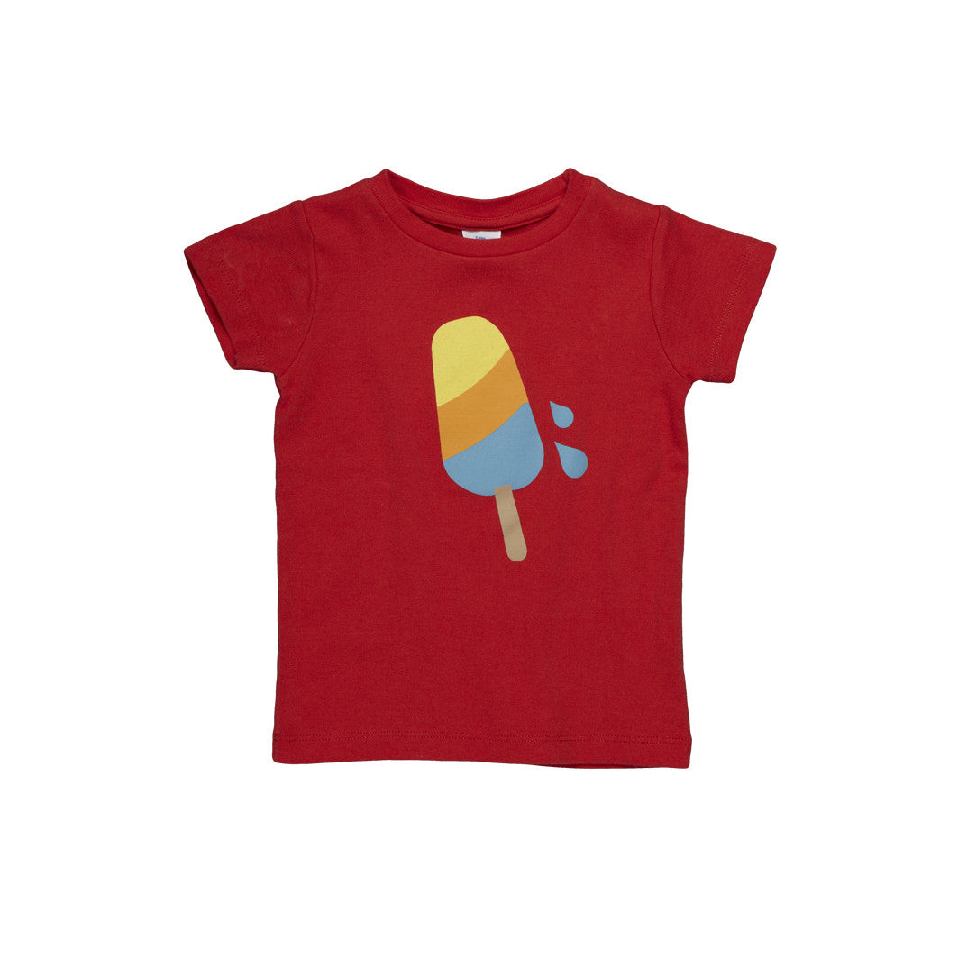 Dis Une Couleur Ice Cream Print Tee - Red - Little Citizens Boutique  - 1