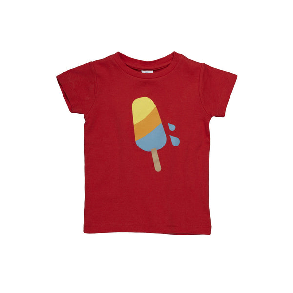 Dis Une Couleur Ice Cream Print Tee - Red