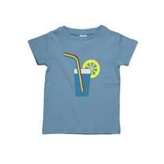 Dis Une Couleur Cocktail Print Tee - Blue - Little Citizens Boutique  - 1