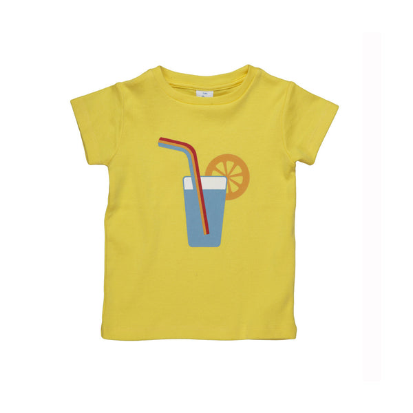 Dis Une Couleur Cocktail Print Tee - Yellow