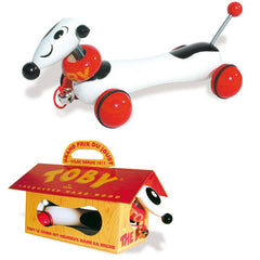 Toby The Pull Dog Toy by Vilac - Little Citizens Boutique  - 2