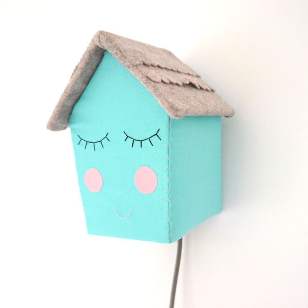 Turquoise House - Night Light by House of Clouds