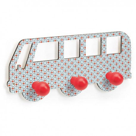 Campervan Wall Kids Coat Hanger by Djeco