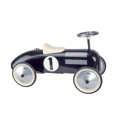 Classic Ride-On Racing Car - Black