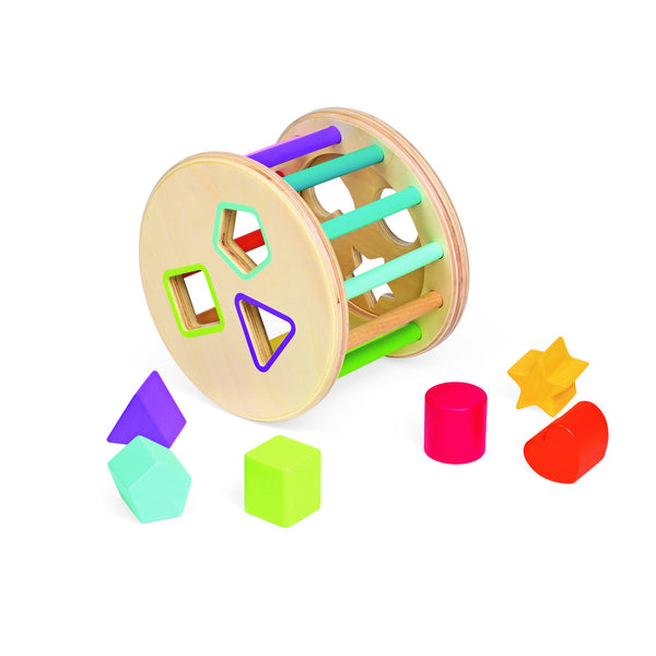 Janod Wood Shape Sorter Drum