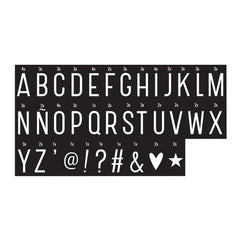 Monochrome letter pack Symbols Set for A4 and A5 Lightboxes - Little Citizens Boutique  - 2