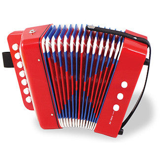 Red Accordion Instrument from Vilac