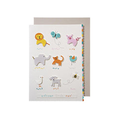 'Welcome Little One' Card With Animals from Meri Meri