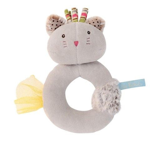Cat Ring Rattle by Moulin Roty