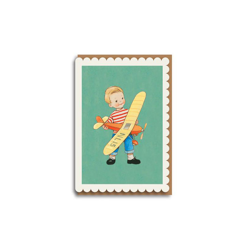 Boy With Plane Card by Mabel Lucie Attwell
