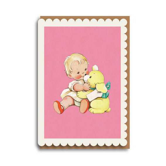 Baby and Bear Card by Mabel Lucie Attwell