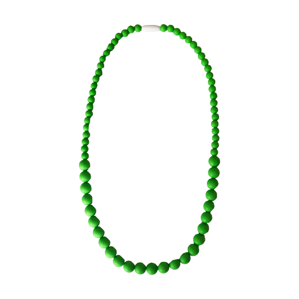 Green Silicone Beaded Teething Necklace