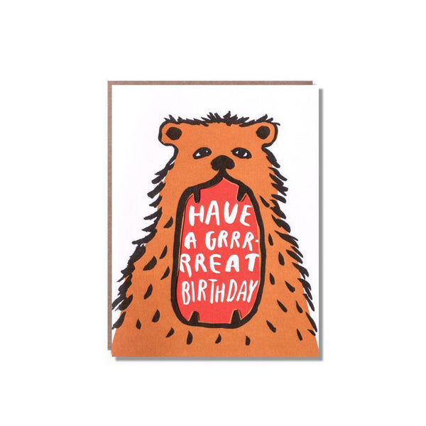 Have a Grrrrrreat Birthday Bear Card from Egg Press