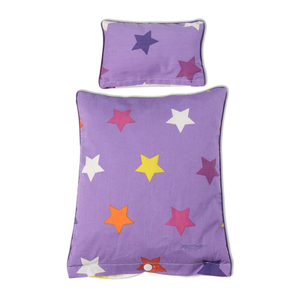 Bedding Lavender Multi Star Duvet and Cover Danish Baby Doll Cot - Smallstuff