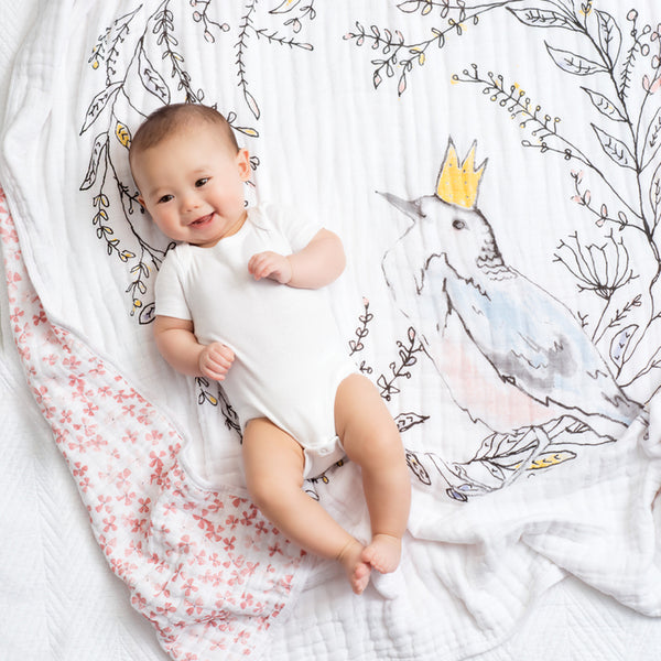 Birdsong Noble Nest Classic Dream Blanket from Aden & Anais
