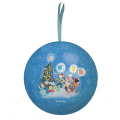 Blue Christmas Tin Bauble by Moulin Roty