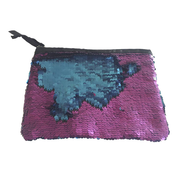 Purple and Blue Sequin Change Pouch